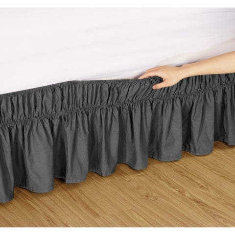 Fashion Street EasyFit Wrap Around Solid Ruffled 14-inch Bed Skirt
