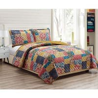 RT Designers Collection Harvest Printed 3-Piece Reversible Quilt Set