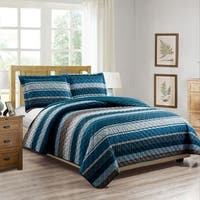 RT Designers Collection Brody Printed 3-Piece Reversible Quilt Set