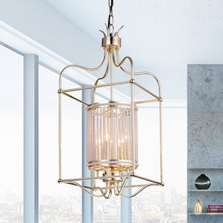 Link to Dafne 4-Light 13-Inch Champagne Gold Box Cage Pendant Similar Items in Pendant Lights