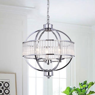 Waldin Chrome Glass 3-Light Globe Pendant