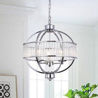 Waldin Chrome Glass 3-Light Globe Pendant
