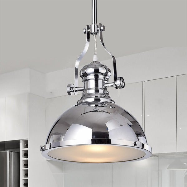 Shop Didya 1-Light 13-Inch Chrome Dome Pendant