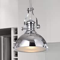 Didya 1-Light 13-Inch Chrome Dome Pendant