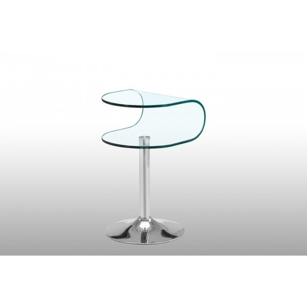 Modern Curved Glass Side Table