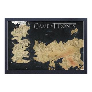 Game of Thrones - Map of Westeros & Essos - Framed 11x17 print