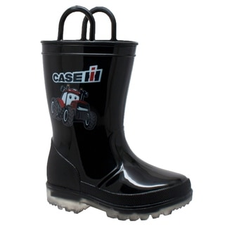 Toddler's PVC Boot with Light-Up Outsole Black