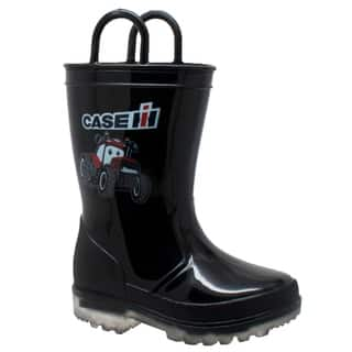 Toddler's PVC Boot with Light-Up Outsole Black|https://ak1.ostkcdn.com/images/products/17631784/P23846326.jpg?impolicy=medium