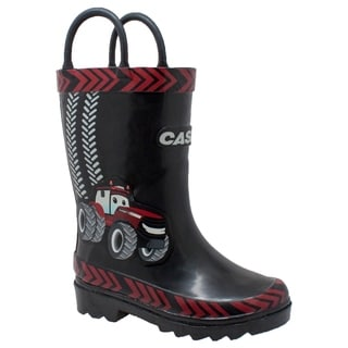 "Children's 3D ""Big Red"" Rubber Boot Black"