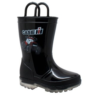 Children's PVC Boot with Light-Up Outsole Black
