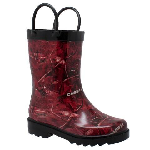 Children's Camo Rubber Boot Red