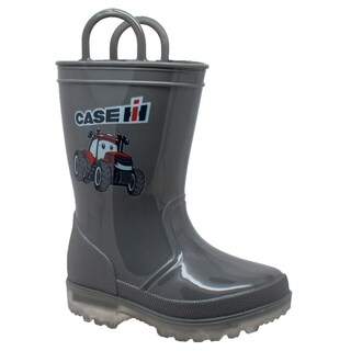 Toddler's PVC Boot with Light-Up Outsole Grey