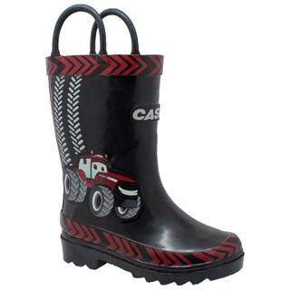 """Toddler's 3D """"Big Red"""" Rubber Boot Black