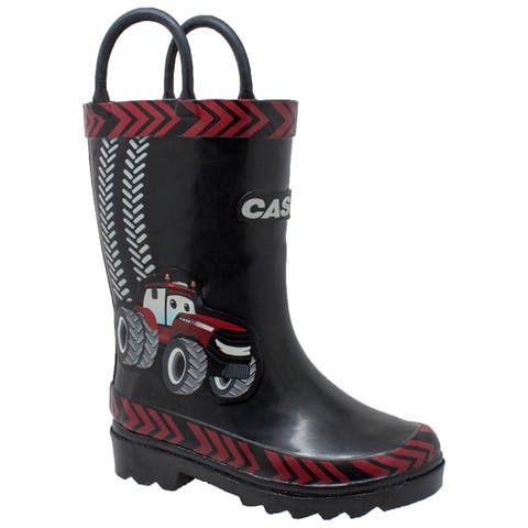 """Toddler's 3D """"Big Red"""" Rubber Boot Black"""