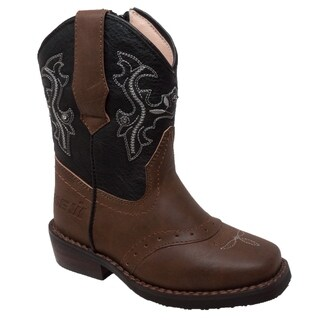 Toddler's Western Light Up Boot Brown/Black