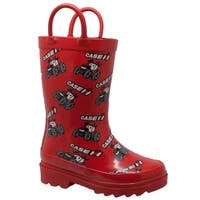 """Toddler's """"Big Red"""" Rubber Boots Red"""