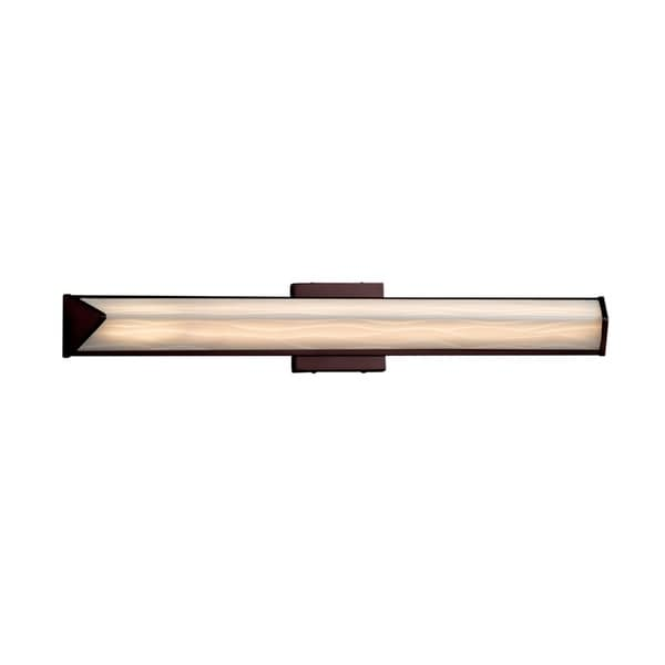 Justice Design Group Porcelina Apex 30-inch Dark Bronze ADA Linear, Waves Shade