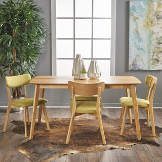 Alma Mid-Century 5-piece Wood Rectangle Dining Set by Christopher Knight Home