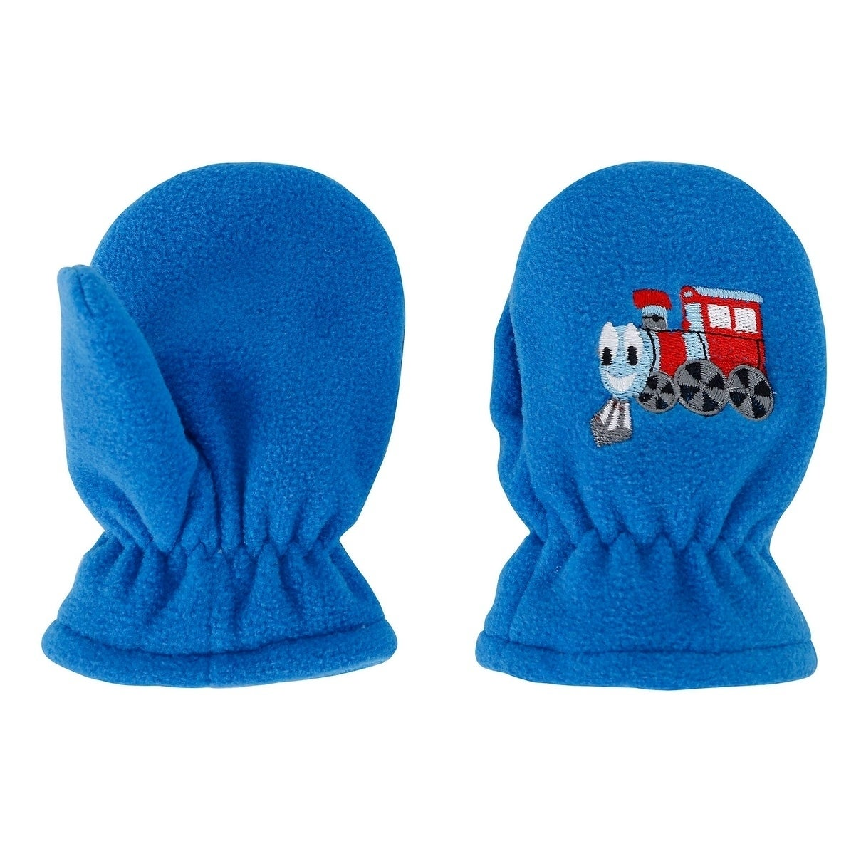 Kids//Toddlers Polar Fleece with Embroidered Winter Set Hat and Mittens