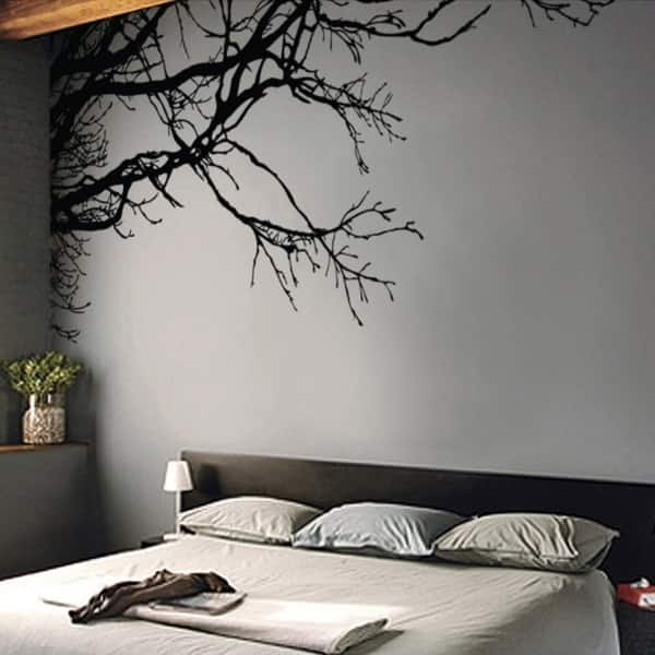 Large Tree Wall Decal Sticker - Black Tree Branches, 44\