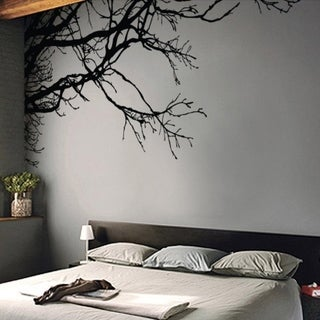 """Large Tree Wall Decal Sticker - Black Tree Branches, 44"""" x 100"""" Wall Vinyl"""