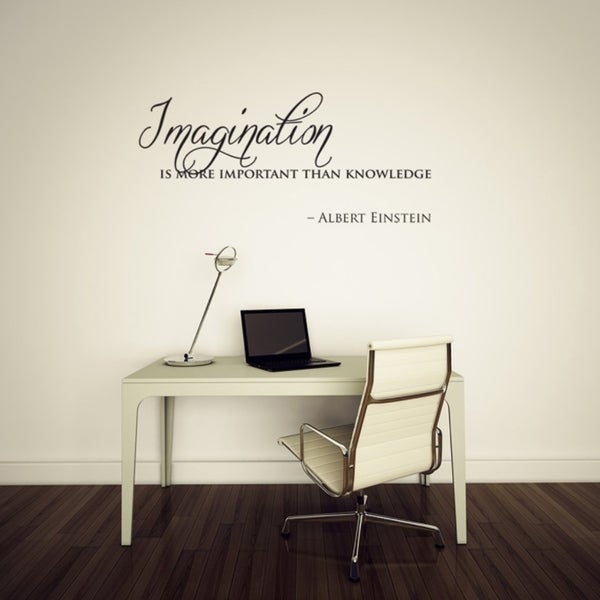 Imagination Is More Than Knowledge Einstein Quote Wall Vinyl