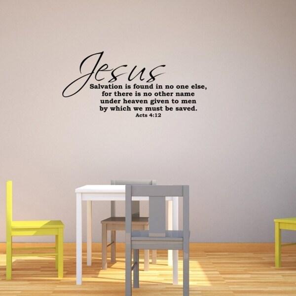 Jesus Salvation Wall Vinyl