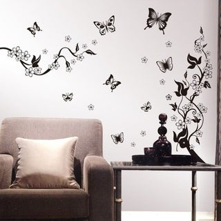 Butterly Flower DIY Wall Vinyl
