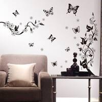 Butterly Flower DIY Wall Vinyl