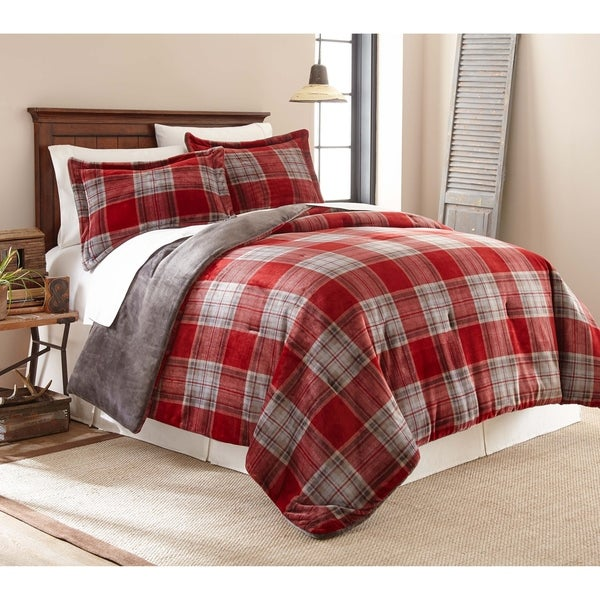 Shop Fraiche Maison Allen Plaid Velvet Plush Print