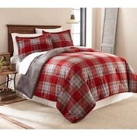 Fraiche Maison Allen Plaid Velvet Plush Print Reversible Comforter Set