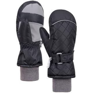 Andorra Children's Water/Snow Resistant Mittens, Long Cuff (Option: Black)|https://ak1.ostkcdn.com/images/products/17638651/P23852170.jpg?impolicy=medium
