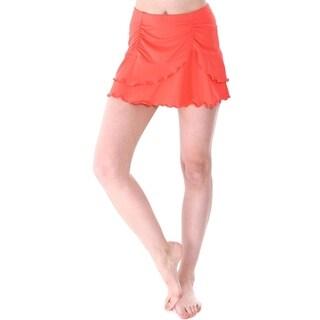 Bawdy Women's Summer Solid Color Cover Up Skirt Swim Skirt