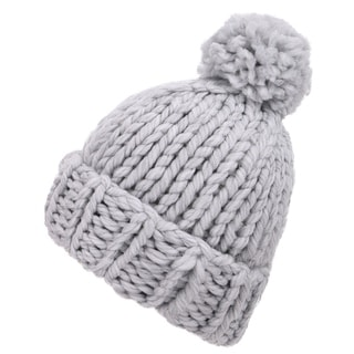 Link to Arctic Paw Women's Super Soft Chunky Cable Knit Pompom Beanie Similar Items in Hats