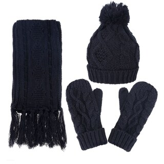 Andorra Women's Cable Knit Winter Hat, Scarf, & Gloves Set|https://ak1.ostkcdn.com/images/products/17638923/P23852352.jpg?_ostk_perf_=percv&impolicy=medium