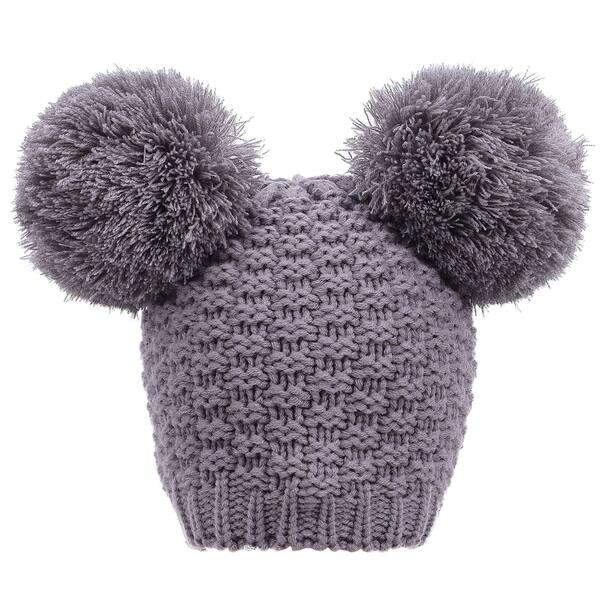 df7818f05 Shop Simplicity Women's Cute Knit Fuzzy Pompom Winter Beanie Hat ...