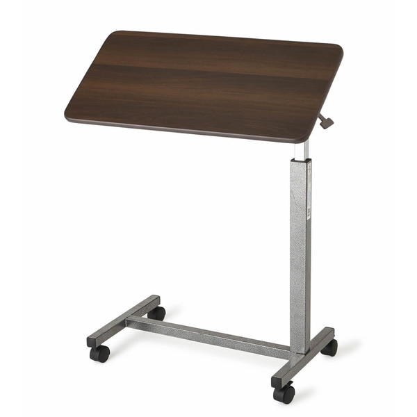 Medline Walnut Tilt Top Overbed Table