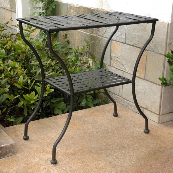 International Caravan Patio Furniture.Shop International Caravan Mandalay 2 Tier Patio Table Free