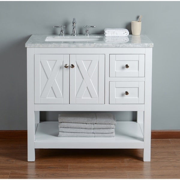 Stufurhome Anabelle White Oak 36-inch Single-sink Bathroom Vanity