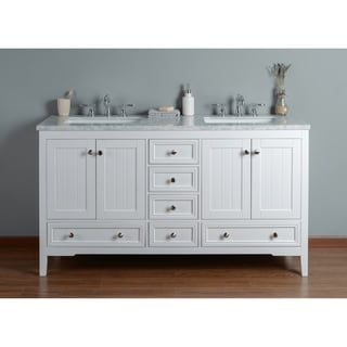 stufurhome new yorker white 60inches double sink bathroom vanity