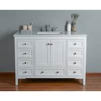 Stufurhome New Yorker 48 Inches White Single Sink Bathroom Vanity