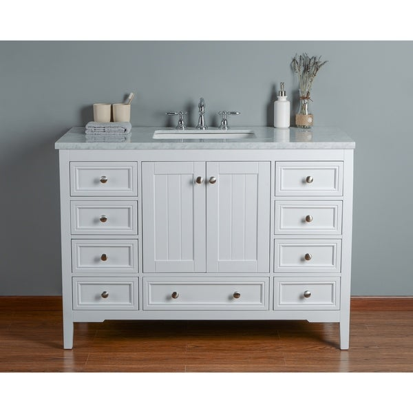 Shop Stufurhome New Yorker 48 Inches White Single Sink Bathroom