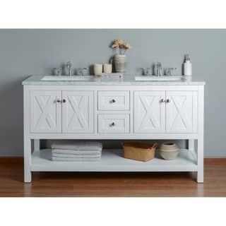 60 inch vanity with double sink. Stufurhome Anabelle White 60 inch Double sink Bathroom Vanity Size Vanities 51 Inches
