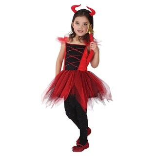 Spooktacular Girls' Sassy Red Devilkin Costume Set