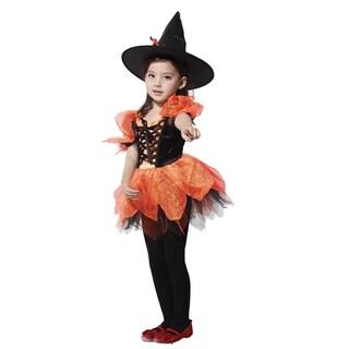 Spooktacular Girls' Sassy Orange Witch Costume Set