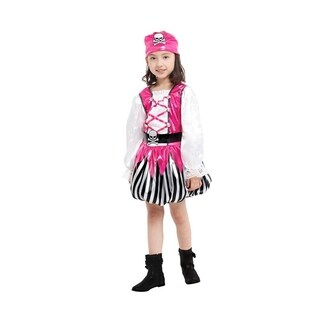 Spooktacular Girls' Pink Pirate Costume Set