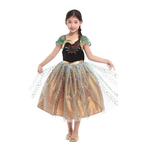 Spooktacular Girls' Ice Princess Dress-Up Costume Set - Anna