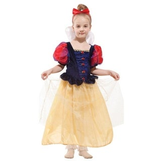 Spooktacular Girls' Fairytale Princess Dress-Up Costume Set - Snow White