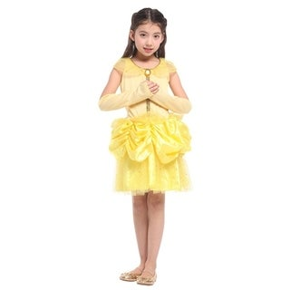 Spooktacular Girls' Beautiful Belle Princess Dress-Up Costume Set