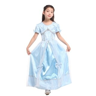 Spooktacular Girls' Fairytale Princess Dress-Up Costume Set - Cinderella